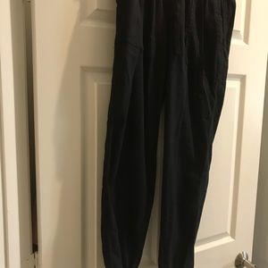 Gap black linen pants w/elastic bottom med